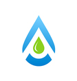 water drop aqua blue logo vector image