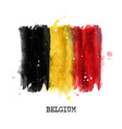 watercolor painting design flag of belgium vector image