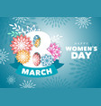 womens day greeting design vector image