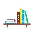 color simple book shelf vector image