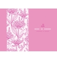 Pink lillies lineart horizontal seamless pattern vector image