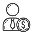 investor line icon business and finance vector image