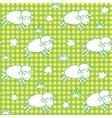 Seamless pattern with funny sheeps and clouds vector image