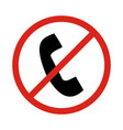 no phone signprohibit sign vector image