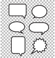 speech bubbles on transparent background speech vector image
