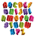 3d font colorful letters vector image vector image