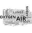 air bath and good health text word cloud concept vector image vector image
