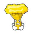angry chanterelle mushroom mascot cartoon vector image vector image