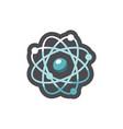 atoms molecular simple structure cartoon vector image