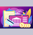 bank account concept vector image vector image