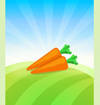 banner template with carrot - vegetables trade vector image vector image