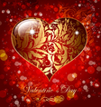 Beautiful card with golden heart vector | Price: 1 Credit (USD $1)