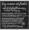 Big chalk roman alphabet vector image vector image