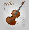 cello musical instruments stock vector image vector image
