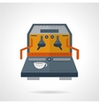 Coffee equipment flat color icon vector image vector image