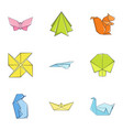 collection instruction icons set cartoon style vector image vector image