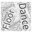 Dance Floor Activities Word Cloud Concept vector image vector image