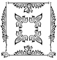 decor floral frame vector image