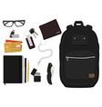 Every day carry man items No outlines vector image vector image