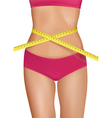fit young woman body vector image