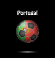 flag of portugal in the form of a soccer ball vector image