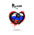 flag of russia in the form of a heart vector image vector image