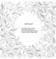 floral template with leaves vector image vector image