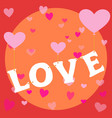 flying love heart balloon happy valentine themed vector image vector image
