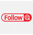 follower icon design vector image