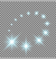glittering flying stars aqua color vector image vector image