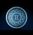 glowing zodiac symbol vector image vector image