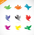 group colorful bird vector image vector image