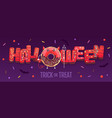 halloween typography poster with sweet donuts vector image