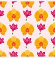 hand drawn flower seamless pattern wallpaper vector image