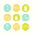 Hand drawn smoothie badges vector image vector image