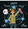Happy found a lost thing day vector image