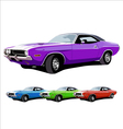 hot american muscle cars vector image vector image