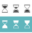 hourglass icon set silhouette icon vector image vector image