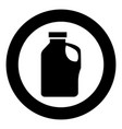 household chemicals icon black color in circle vector image vector image