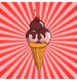 Ice cream with topping vector image vector image