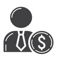 investor glyph icon business and finance vector image vector image