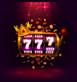 king slots 777 banner casino on red background vector image vector image
