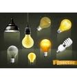 Light bulbs icons vector image vector image