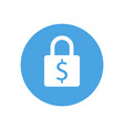lock icon padlock sign dollar finance vector image