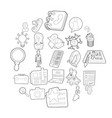 locker icons set cartoon style vector image vector image