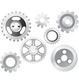 machine gear wheel vector image vector image