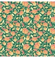 Magical flowers and leaves seamless pattern vector image vector image
