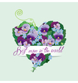 mom pansy heart 380 vector image vector image