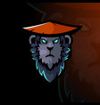 monkey head logo vector image