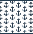 monochrome seamless pattern with anchor vector image vector image